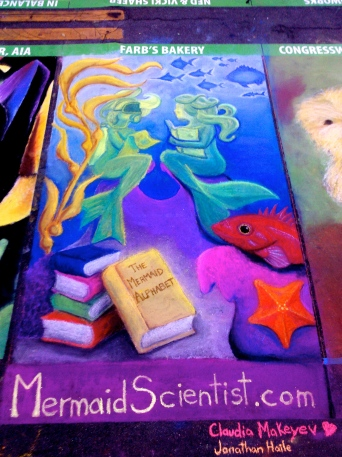 Mermaid Scientist in Chalk