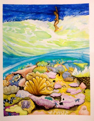 Coral Reef watercolor